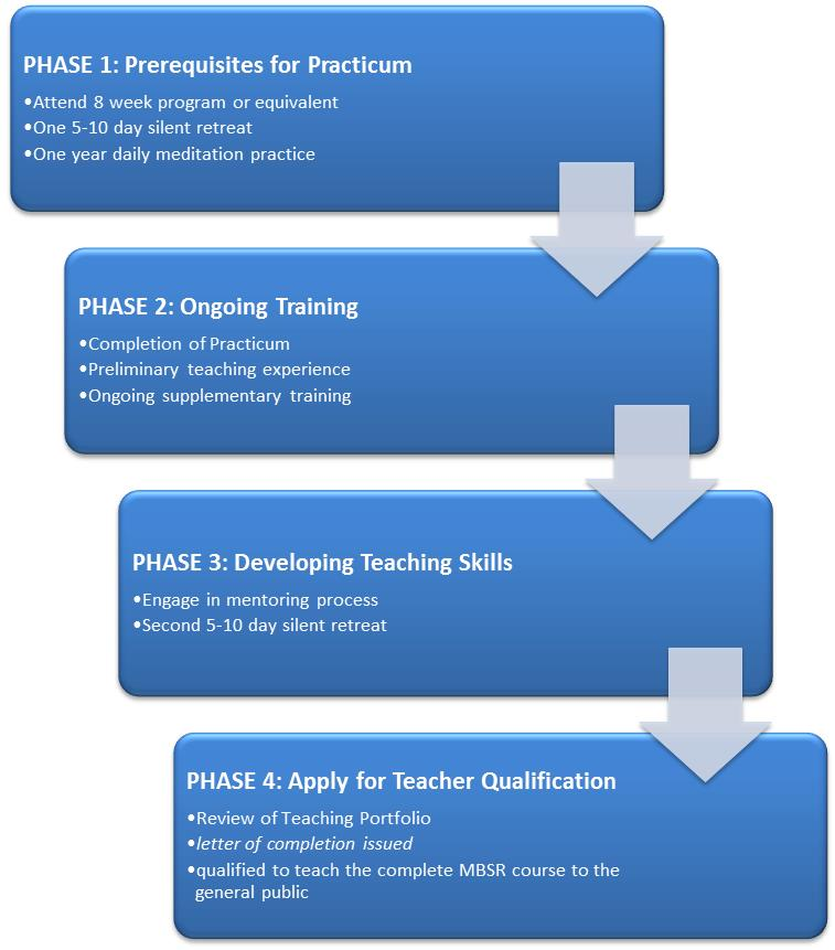 Mbsr Teacher Qualification And Certification on Professional Teaching Portfolio